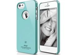Чехол для телефона iPhone 5 ELAGO Slim Fit Glossy Coral Blue (ELS5SM-UVCBL-RT)